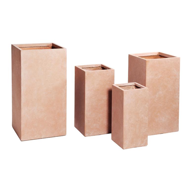 Pot carré haut gamme Genève L33xl33xH70 cm 385480