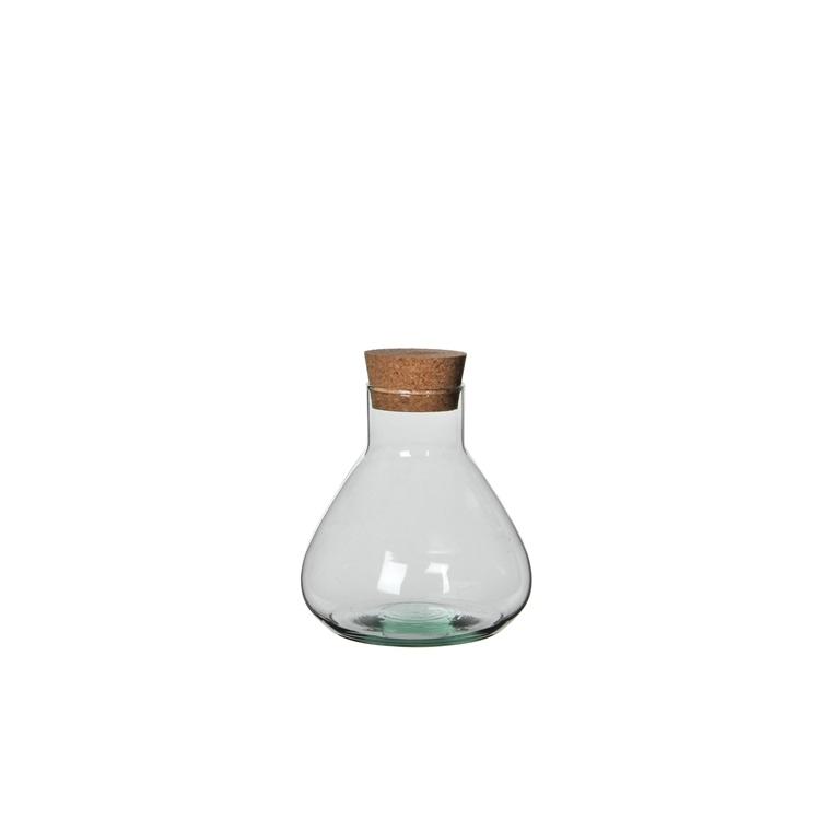 Bocal Emily en verre transparent moyen modèle Ø 17 x H 18 cm 385698