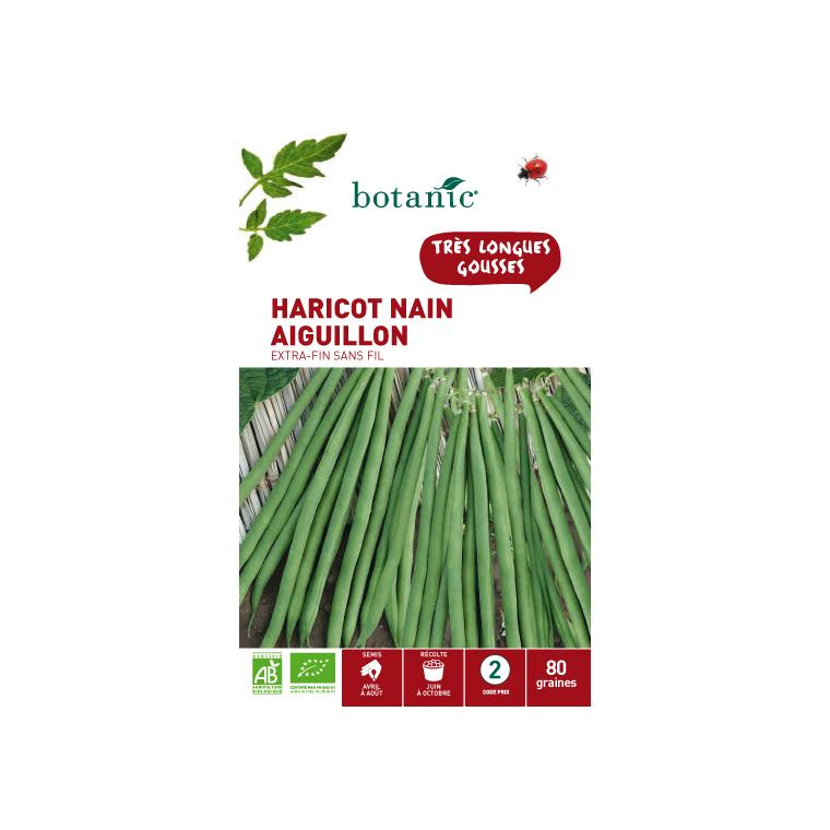 Semences pour haricot nain de la variété aiguillon 80 graines - 2 m 386280