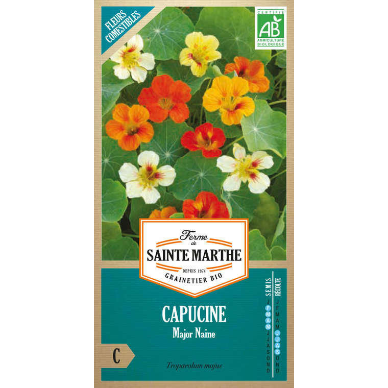 Graines de Capucine Major naine en sachet 386759