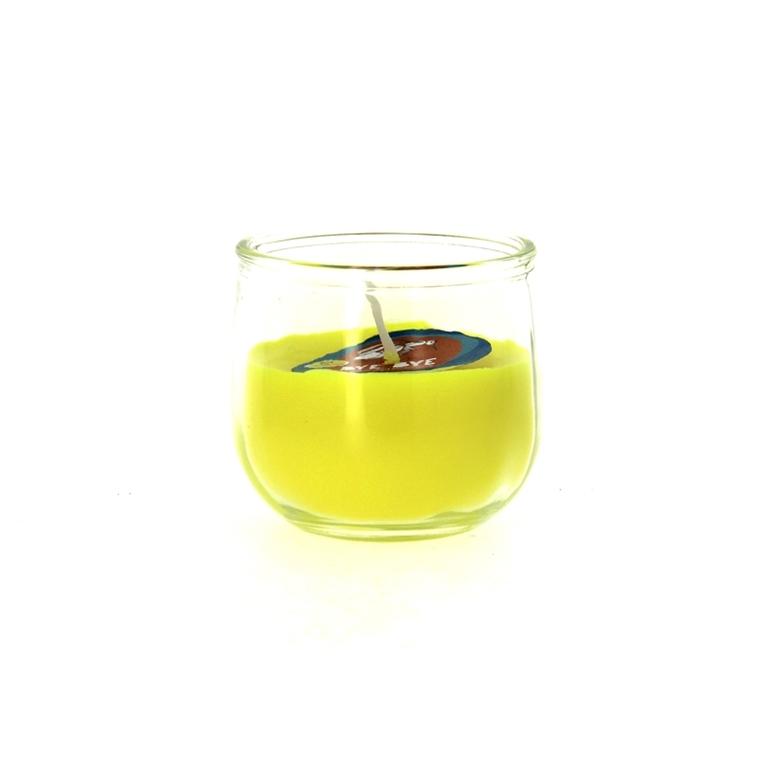 Verre rempli de bougie à la citronnelle anti moustiques 387323