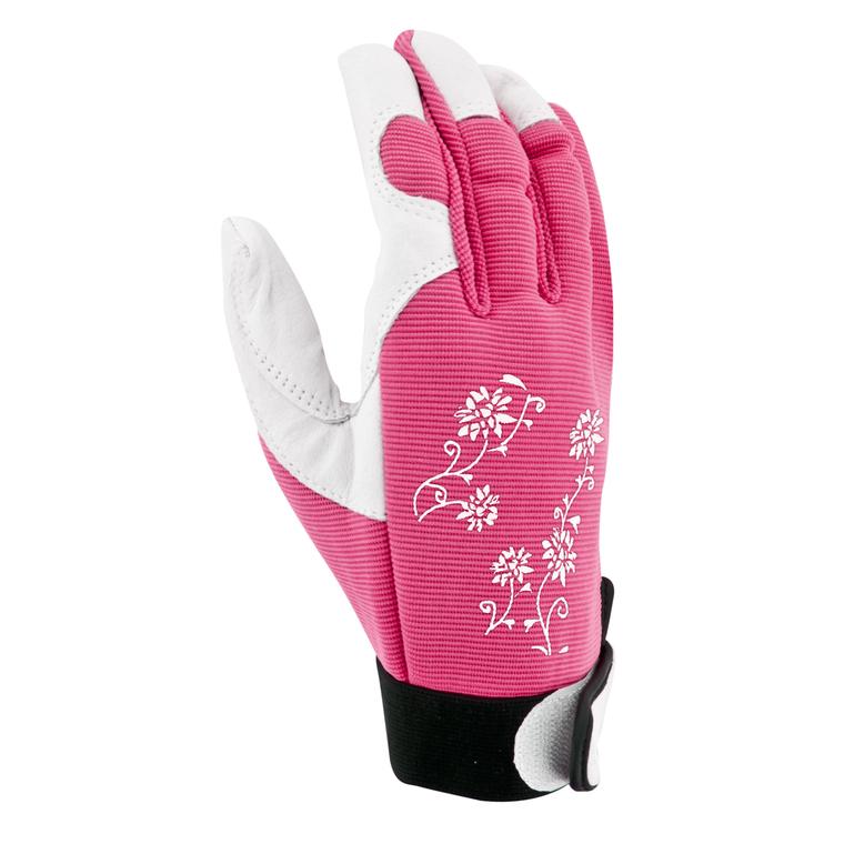 Gants Jardy cuir et élasthanne coloris Rose Taille 8 388167