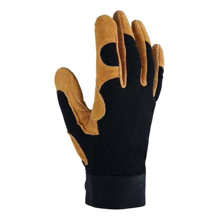 Gants Control coloris Marron en polyester et cuir Taille 9 388193