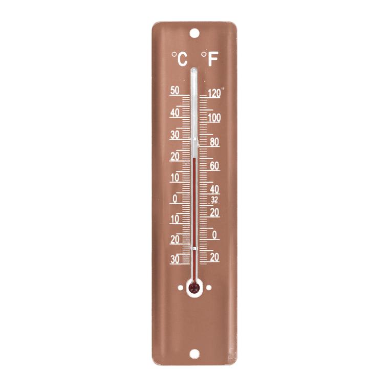 Thermomètre en tôle peinte coloris Copper 20 cm 388238