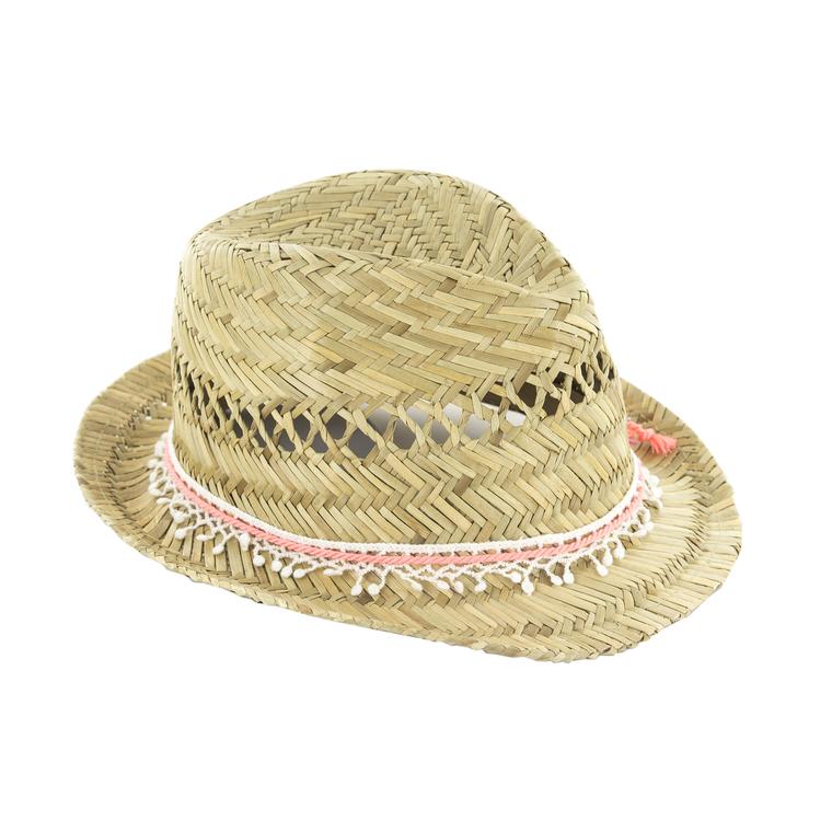 Chapeau de paille enfant Giulia taille 54 Ø 25 cm 388719