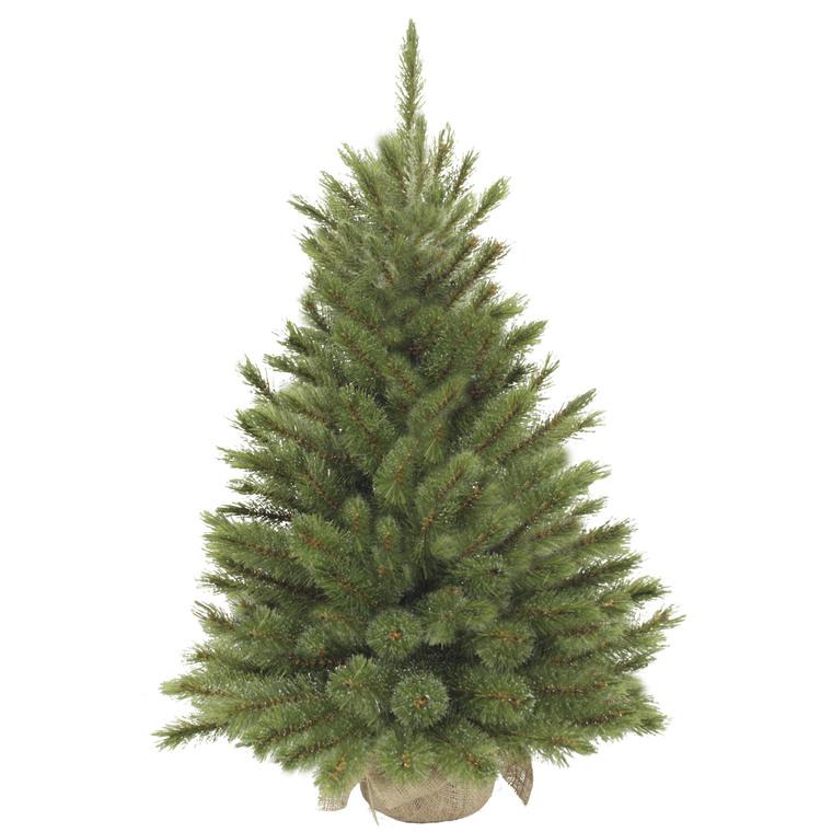 Sapin de Noël artificiel vert Forest avec toile de jute 90 cm 57600