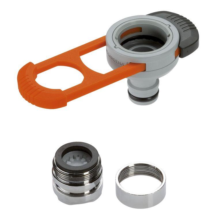 Adaptateur pour robinet d'intérieur coloris gris 390561