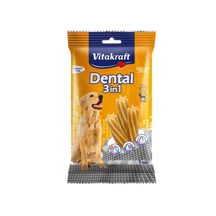 Dental 3 en 1 pour moyens et gros chiens 180 g 39543