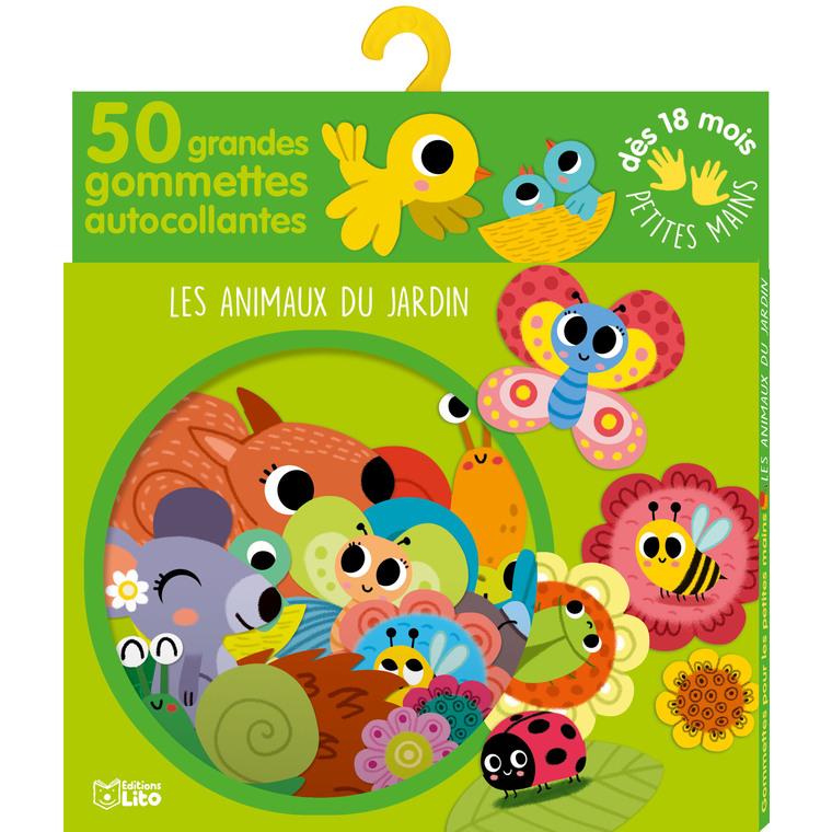 Les Animaux du Jardin Gommettes Petites Mains 18 mois Éditions Lito 395902