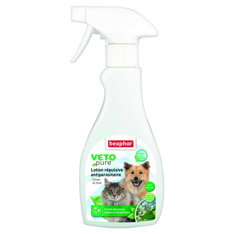 Lotion répulsive antiparasitaire pour chien et chat 250 ml 397447