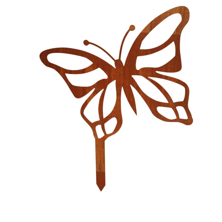 Statue de jardin à planter papillon H 36 cm 398207