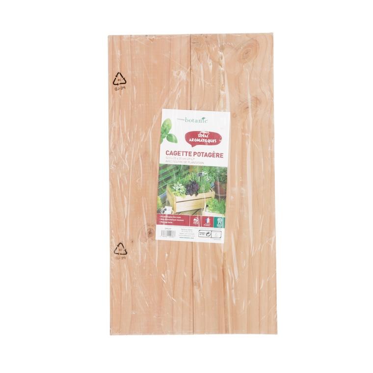 Cagette potagère 52 x 35 x 23 cm avec feutre géotextile 399239