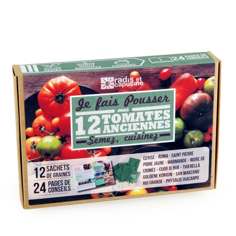 075f0842abd8b Coffret de 12 sachets de tomates anciennes : Graines potagères RADIS ET  CAPUCINE potager - botanic®