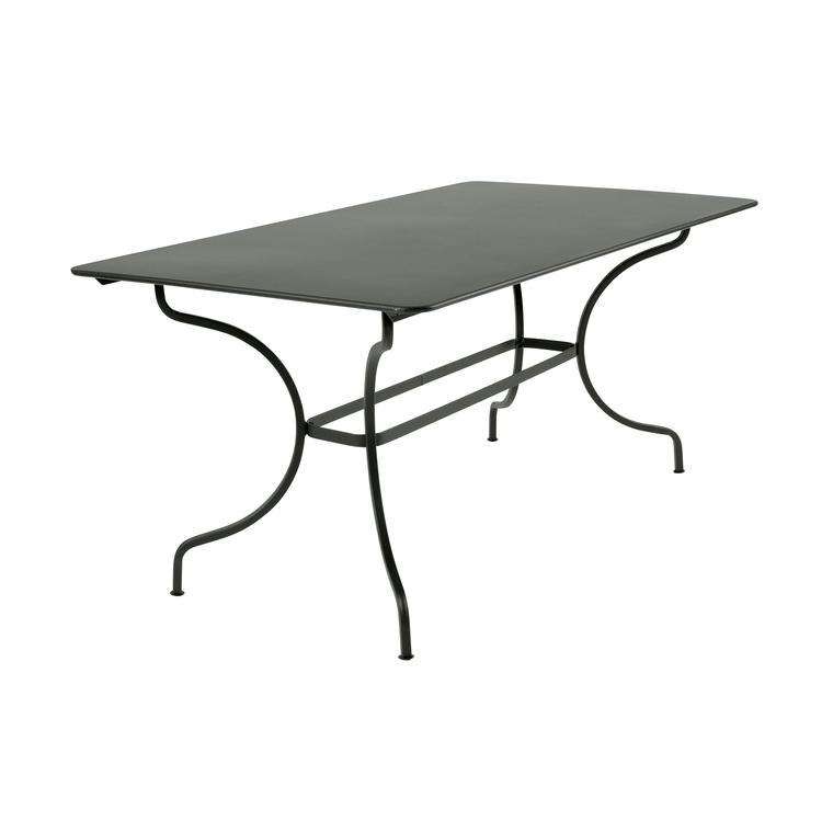 Table Manosque Fermob En Acier Coloris Romarin Ustensiles Et