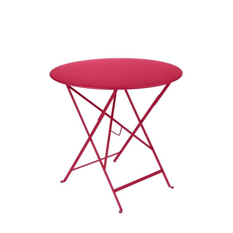 Table pliante ronde bistro en acier coloris rose Ø 77 H 74 ...