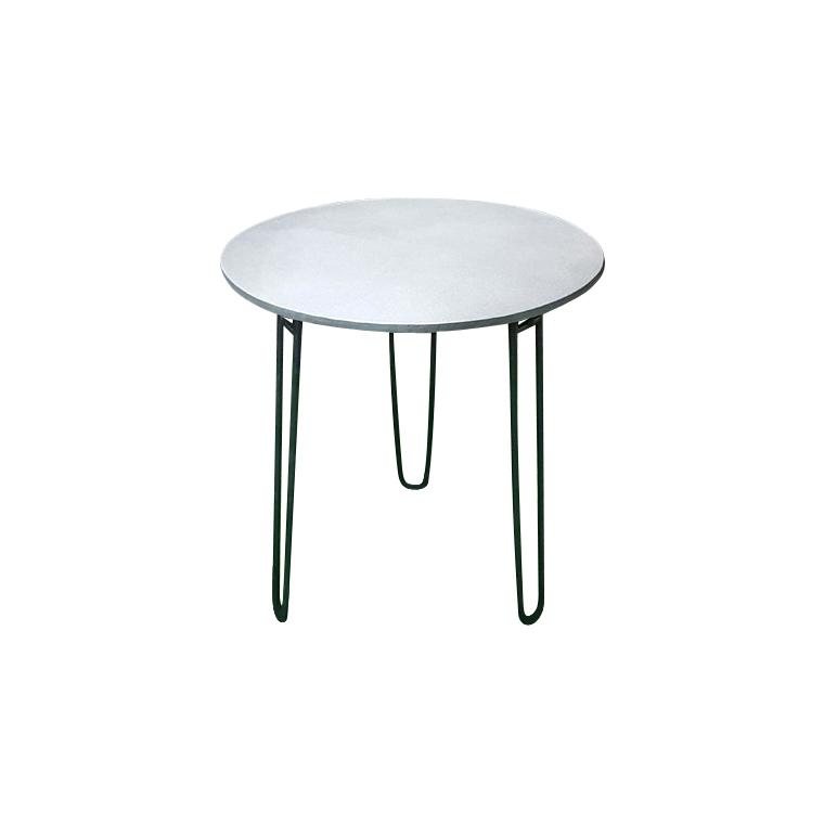 Table ronde Padro grise Ø 70 x 75 cm : Tables de jardin ...