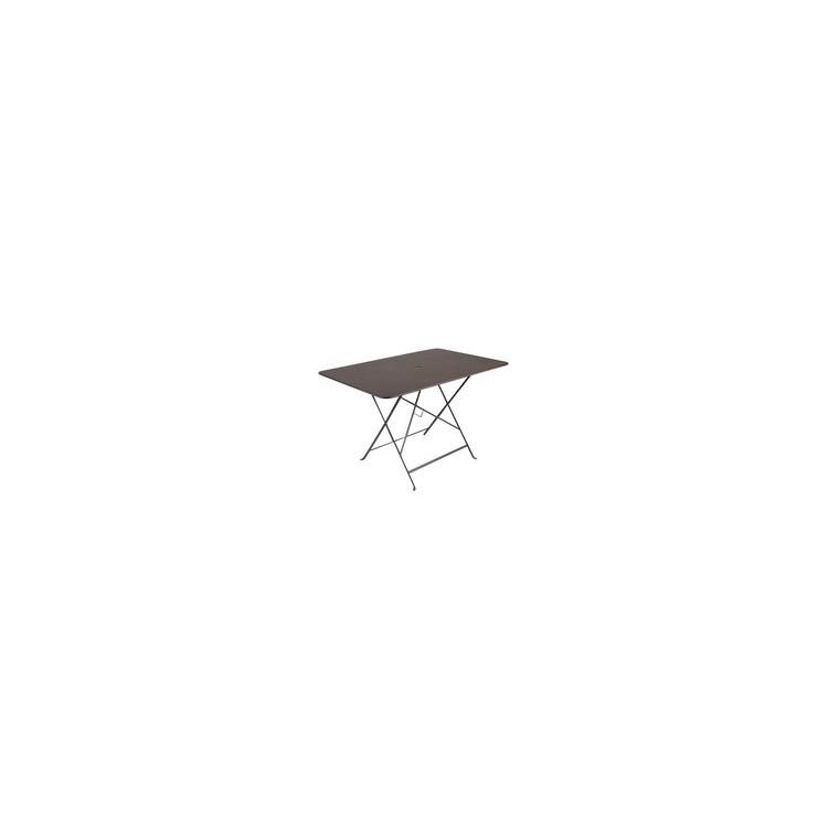 Grande Table pliante rectangulaire couleur Rouille 117 x 77 x 74 cm ...