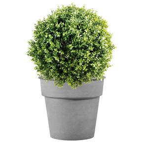 Pot horticole en acier peint gris clair Ø 27 x H 24 cm 400020