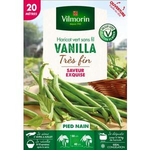 Semences pour haricot nain de la variété vanilla - 20 m 400184