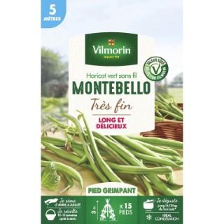 Semences pour haricot nain de la variété montebello - 5 m 400189