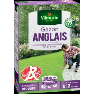 Gazon anglais label rouge Vilmorin 1 kg 400201