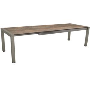 Table extensible Stern alu & HPL graphite ferro 214/254/294 x 100 cm 400509
