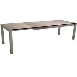 Table extensible Stern alu & HPL graphite smoky 214/254/294 x 100 cm 400511
