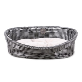 Panier pour chien Homecollection Rustic Rattan gris S 50x50x50 cm 402162