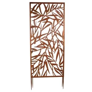 Panneau Wanddeco Bambou Metal Rouille Decoration Et Amenagement Du