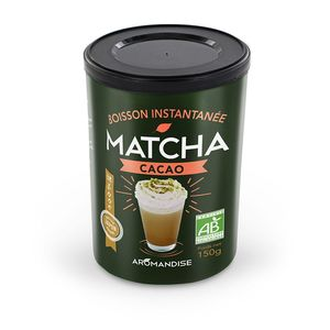 Matcha cacao instantanée bio en tube de 150 g 402395