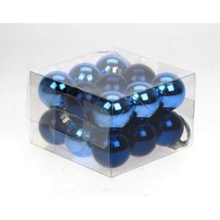 Boite 18 Boules Plastique  Ø3 cm Bleu 634457