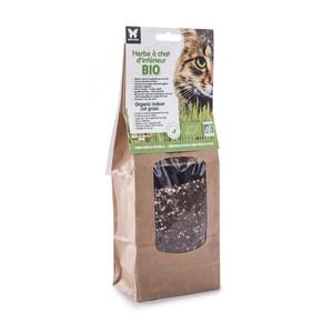 Herbe à chat bio à semer - barquette de 130 g 402584