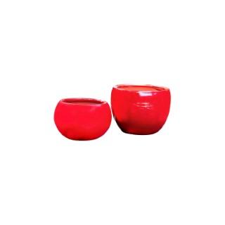 Pot rouge gamme le lisère Ø 25 cm 402606