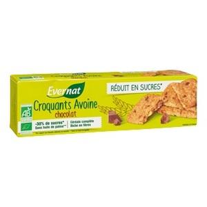 Croquants à l'avoine et au chocolat bio réduit en sucre 130 g 404021