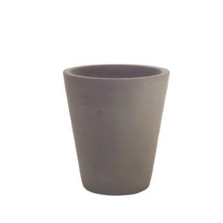 Pot Cycas lisse coloris moka en terre cuite H 50 x Ø 45 cm 40428