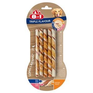 Os à mâcher triple flavour twisted 8 en 1 taille L beige x 10 672368