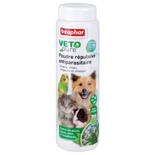Poudre répulsive antiparasitaire chien chat oiseaux rongeurs 60 g 404897