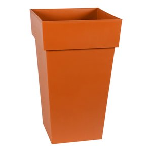 Pot carré gamme Toscane orange L40xl39xH65 cm 405042