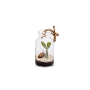 Terrarium Bottle S Cactée en verre à poser ou suspendre Ø 10 x H 18 cm 405242