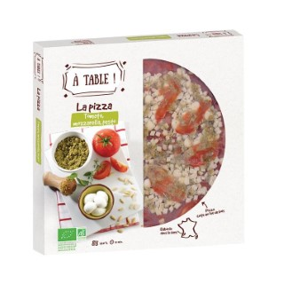Pizza tomate mozzarella pesto 400g 405469