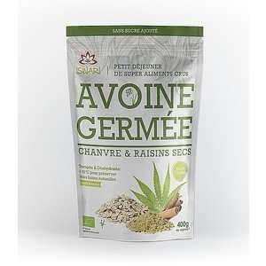 Avoine germée au chanvre et raisin sec bio 400 g 405612