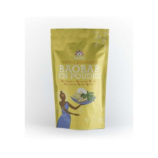 Baobab en poudre bio en paquet jaune de 125 g 405619