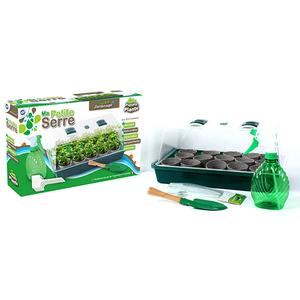 Serre de 15 pots et semences avec accessoires 38x24x18 cm 405680