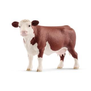 Figurine Vache hereford Série Animaux de la ferme 13,8x4,1x7,9 cm 405841