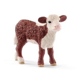 Figurine Veau Hereford Série Animaux de la ferme 7,6x2,3x5,3 cm 405843
