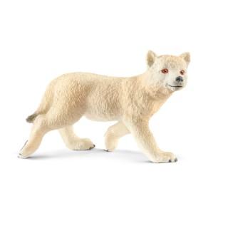 Figurine Louveteau de l'Arctique Série Animaux sauvages 5,4x2,1x3,6 cm 405861