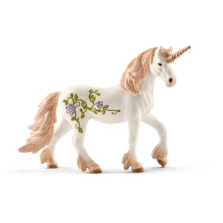 Figurine Licorne debout avec paillettes Série Bayala 15x8,5x18 cm 405929