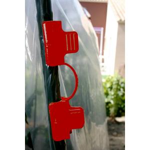 Clip de fixation coloris rouge Ø 16 mm 406045