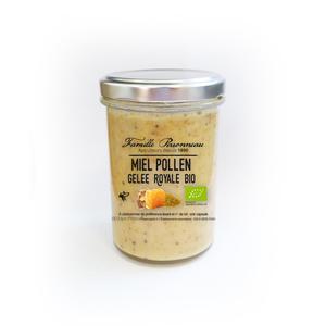 Miel crémeux avec pollen et gelée royale bio en pot de 250 g 406811