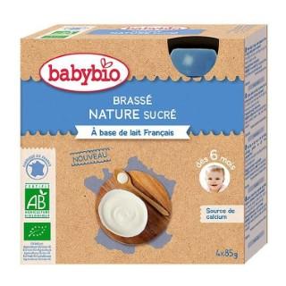Gourde de yaourt brassé nature Babybio 4 x 85 g 406823